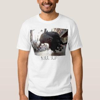 charging bull, BULL SLIP T-shirt