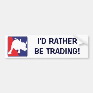 charging-bull bumper sticker
