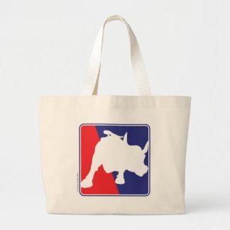 charging-bull large tote bag