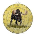 Charging Bull Moose Dartboard With Darts
