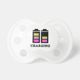 charging pink pacifier