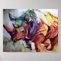 Charging Rhino-Keep Charging! Poster