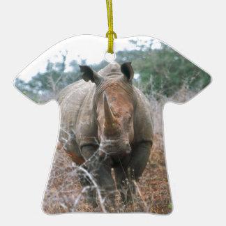 Charging Rhino Ceramic T-Shirt Decoration