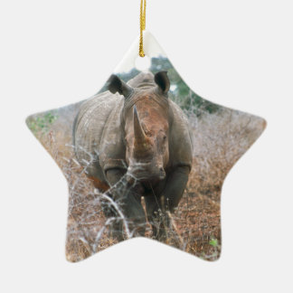 Charging Rhino Ceramic Star Decoration