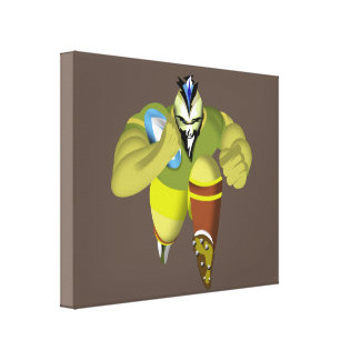 Charging Rugby Player Stretched Canvas Prints