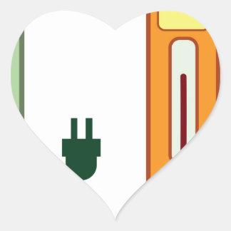 Charging Station Heart Sticker