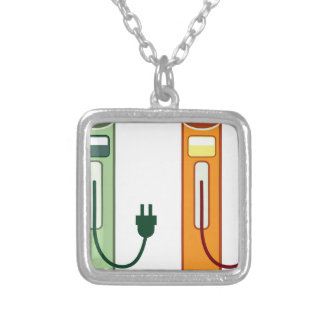 Charging Station Square Pendant Necklace