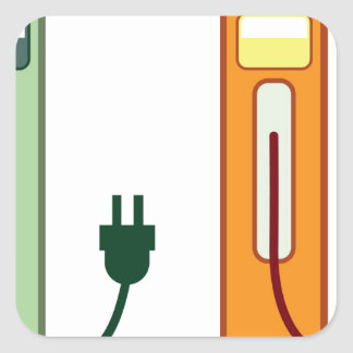 Charging Station Square Sticker