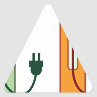 Charging Station Triangle Sticker