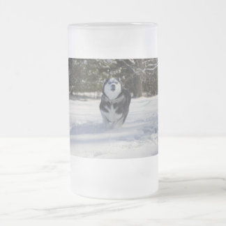 Charging Through Frosted Glass Beer Mug