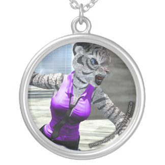 Charging Tigress Round Necklace