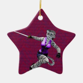 Charging Tigress Star Ornament
