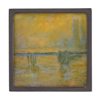 Charing Cross Bridge by Claude Monet Jewelry Box