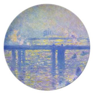 Charing Cross Bridge Claude Monet Dinner Plates