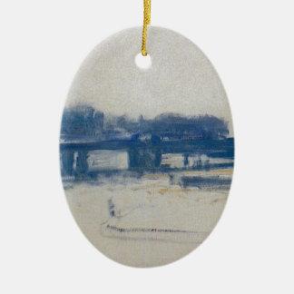 Charing Cross Bridge (study) by Claude Monet Ceramic Ornament