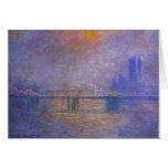 Charing Cross Bridge, The Thames 02 by Claude Mone Card