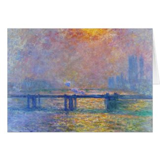 Charing Cross Bridge, The Thames, Claude Monet Card