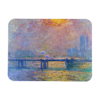 Charing Cross Bridge, The Thames,  Claude Monet Magnet