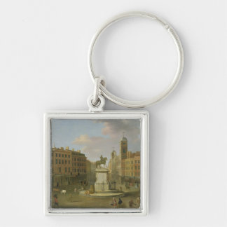 Charing Cross, with the Statue of King Charles I a Keychain