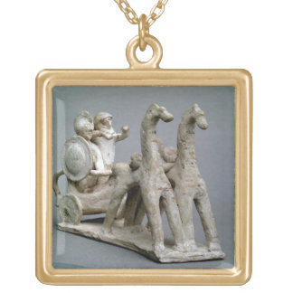 Chariot and horses, from the Tomb of Princess Nefe Gold Plated Necklace