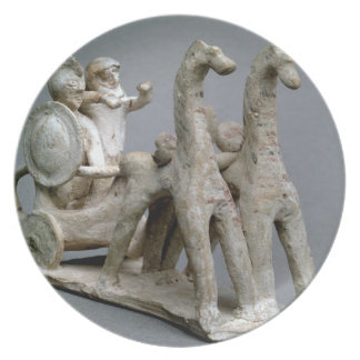 Chariot and horses, from the Tomb of Princess Nefe Dinner Plates