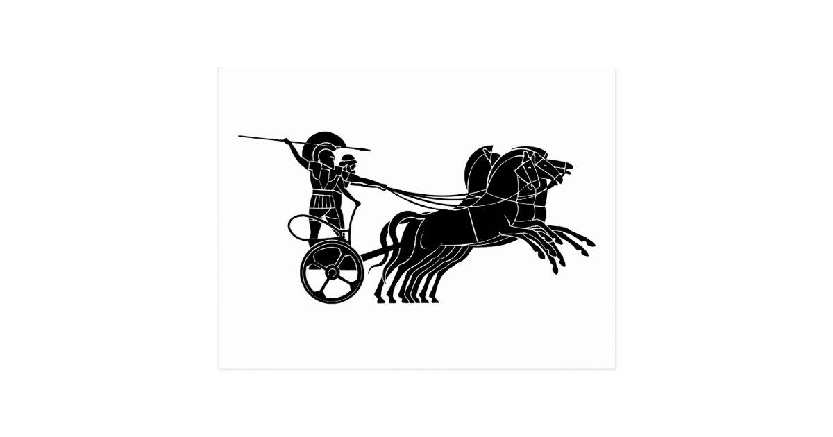 chariot horse carriage greek relief design postcard zazzle. Black Bedroom Furniture Sets. Home Design Ideas