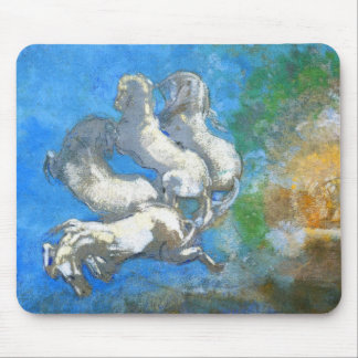 Chariot of Apollo - by Symbolist Odilon Redon Mouse Pads