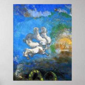 Chariot of Apollo - by Symbolist Odilon Redon Prin Poster