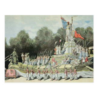 Chariot of the Triumph of the Republic Postcard