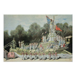 Chariot of the Triumph of the Republic Poster
