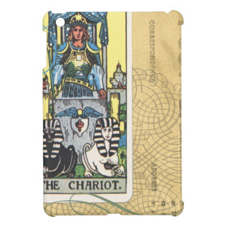 Chariot Tarot Card Vintage Postcard Fortune Teller iPad Mini Covers