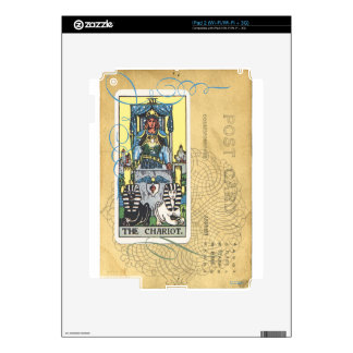 Chariot Tarot Card Vintage Postcard Fortune Teller Decals For iPad 2
