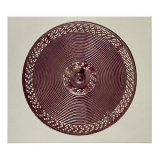 Chariot wheel decoration with openwork border poster