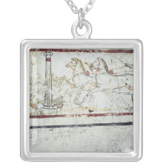 Charioteer and Gladiator, from the Tomb of Square Pendant Necklace