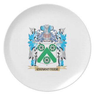 Charioteer Coat of Arms - Family Crest Plate