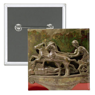 Charioteer in his chariot, detail from a cist 2 inch square button