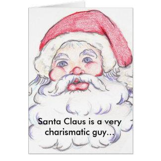 Charismatic Santa Claus Card