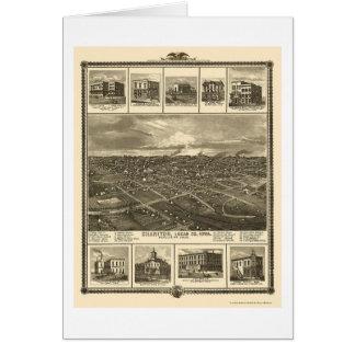 Chariton, IA Panoramic Map - 1875 Card