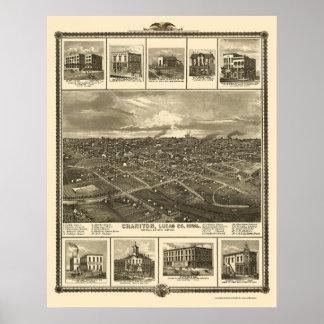 Chariton IA Panoramic Map - 1875 Poster