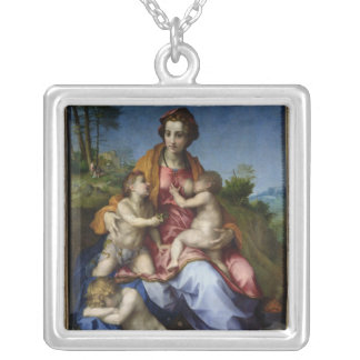 Charity, 1518-19 silver plated necklace