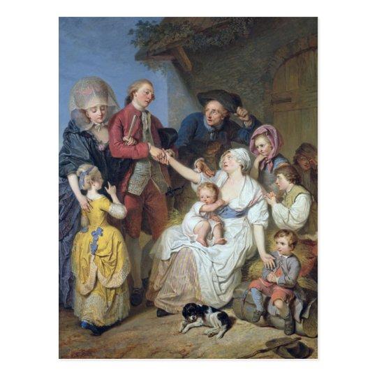 Charity, 1777 postcard