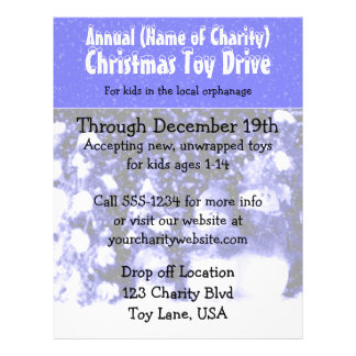 Charity Annual Christmas Toy Drive Snowmen Blue Flyer