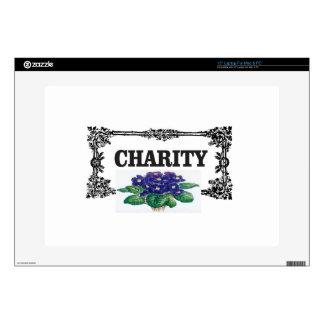 """charity blue flowers 15"""" laptop skin"""