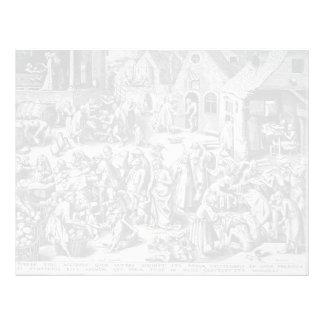 Charity by Pieter Bruegel the Elder Customized Letterhead