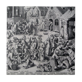 Charity by Pieter Bruegel the Elder Tile