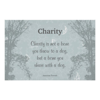 Charity Caring - Quote Saying Proverb Poster