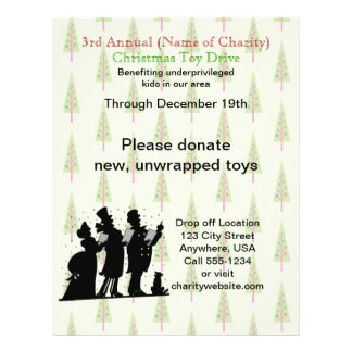 Charity Christmas Annual Christmas Toy Drive Flyer