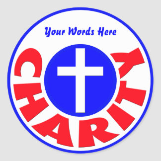 Charity Classic Round Sticker