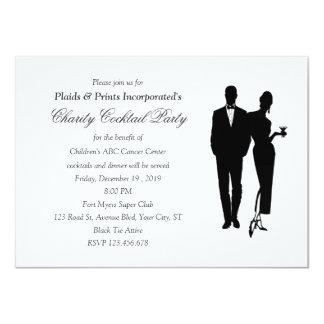 Charity Dinner Black Tie Event 4.5x6.25 Paper Invitation Card