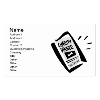 Charity Dinner Double-Sided Standard Business Cards (Pack Of 100)